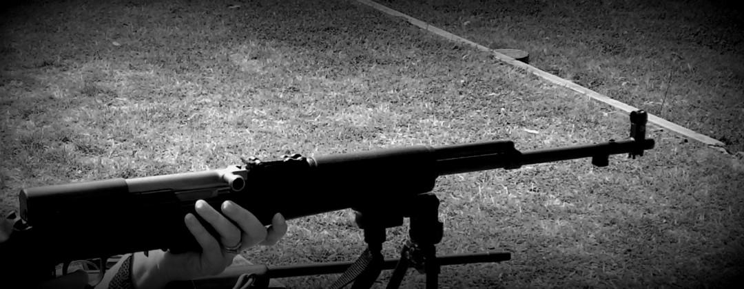 SKS on bipod at the range.