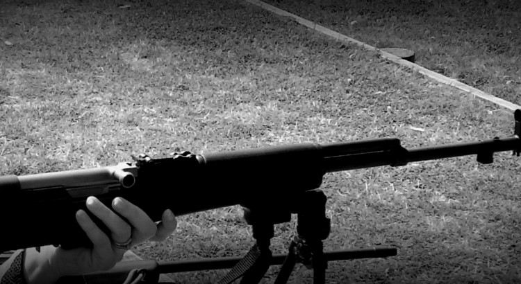 SKS on bipod at the range.
