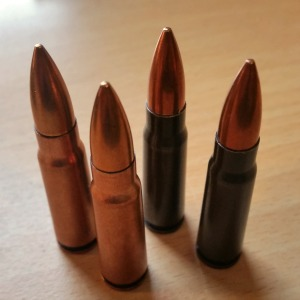 Hungarian 7.62x39 from 1961 (copper wash) and 1971 (lacquer)