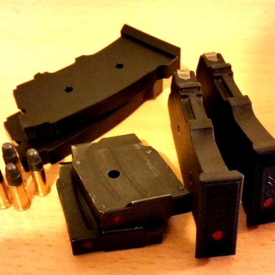 CZ 452 and Norinco JW-15 magazines with 22LR rounds.