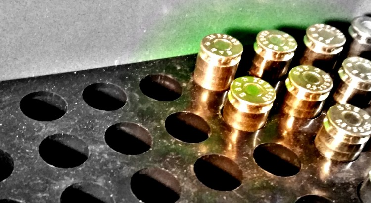Reloaded rounds in MTM 50 rounds ammo container.