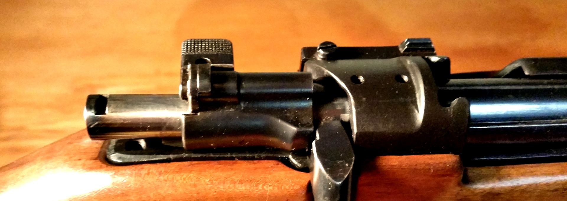 Modified Mauser bolt action.