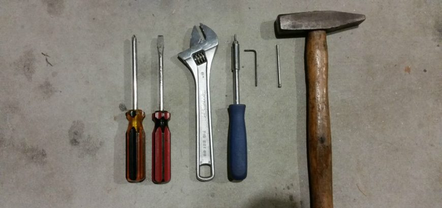 The tools needed for this job are pretty simple and should all be in your tool box already.