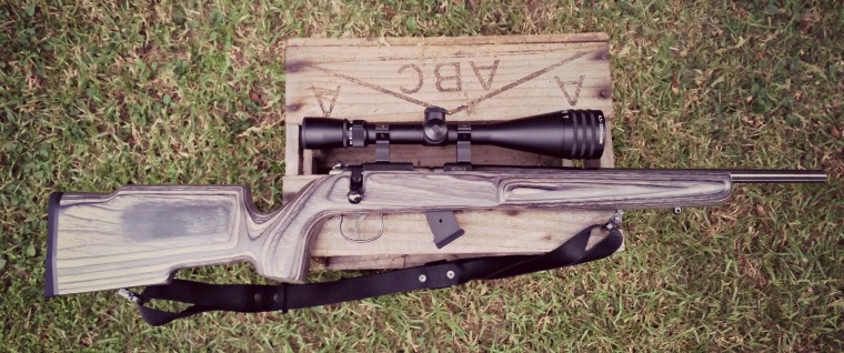 It may be a hunting scope, but it's perfectly at home on this rimfire rifle.
