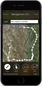 Draw boundaries of your hunting area to start managing animal resources and tracking your activity.