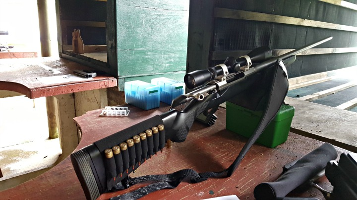 You and everyone else around you will be glad for the shooting tunnels when big guns like this .300 WSM are on the range. Also great for when there's a bit of rain!