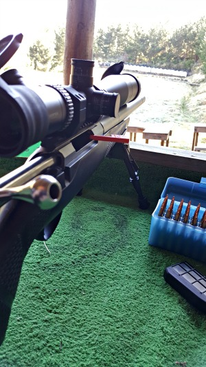 The standard Tikka stock handled well, but the MAE full barrel suppressor made unsupported shooting challenging with its extra weight forward of the action.
