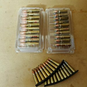 7.62x39 rounds don't fit particularly well, being too large for the small case and too short for the medium case. But hey, not many people reload these, so if you're stocking up on Russian ammo, it's probably in spam cans.