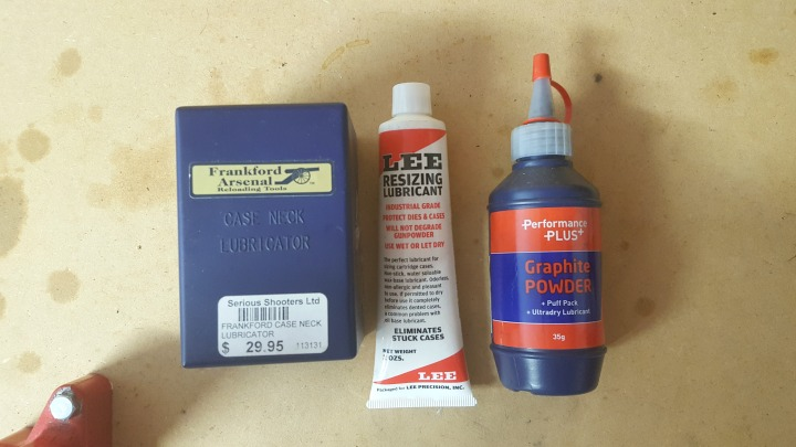 Some common case lubes - you do also get lube pads and lanolin spray.