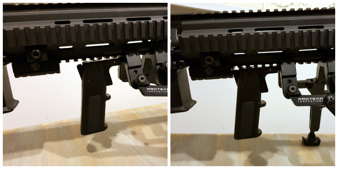 Creating a backstop for the Gen II bipod with Stability Grip means I don't have to think about anything when deploying the bipod.