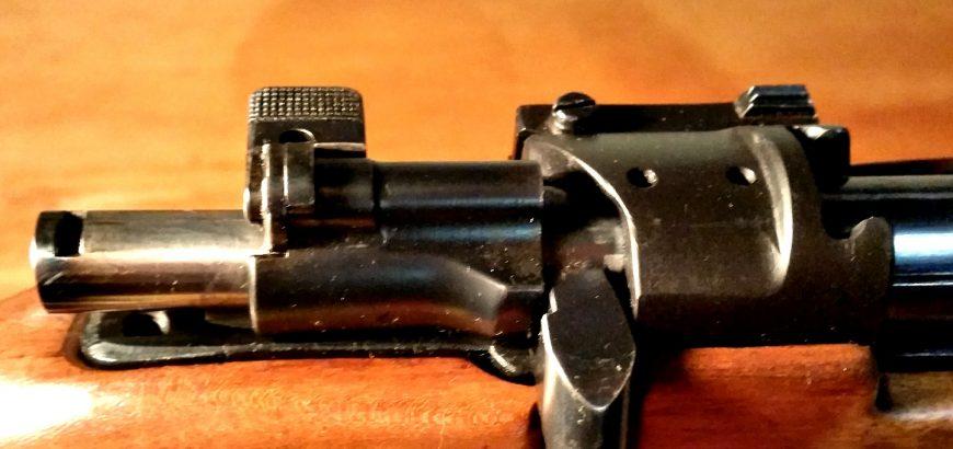 Modified M38 bolt.